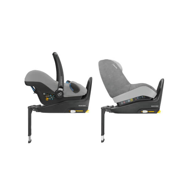 From birth up to approx. 4 years solution with one car seat base for two age groups