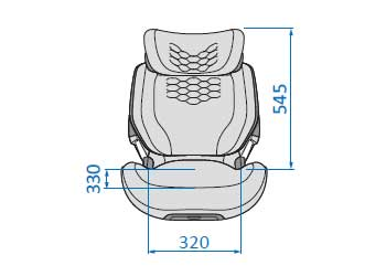 Kore Pro I-Size front compact  inner - 320mm wide x 330mm depth x 545mm height